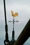 Raalte Plaskerk de torenhaan vanuit de werkbak